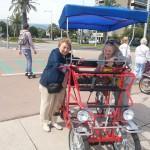 Girls get pedalling
