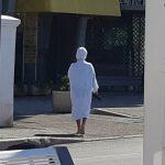 Lady in white Juan les Pins